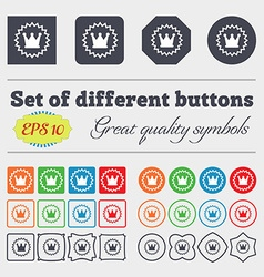 rown icon sign Big set of colorful diverse vector image