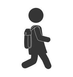 School kid pictogram design vector