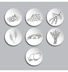 Seven Species icons set vector image