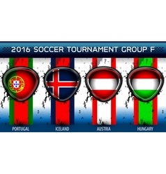 Soccer Euro Group F vector image