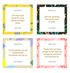 Social media influencer daily quote templates vector