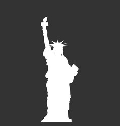 statue of liberty new york usa simple white vector image