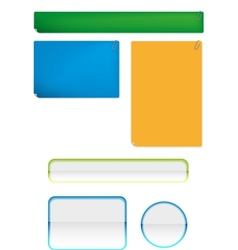 Stickies and bars for any case vector image