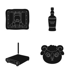 Technology alcohol and or web icon in black style vector
