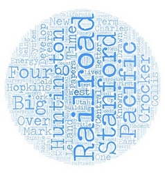 The Big Four text background wordcloud concept vector image