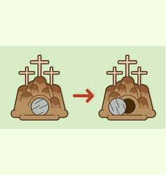 the tomb of jesus stone cave graphic vector image