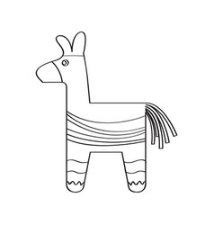 traditional mexican pinata sketch vector image