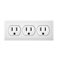 Triple electrical socket type b receptacle from vector