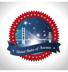 united stastes of america design vector image