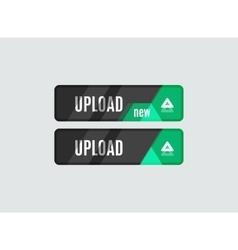 Upload button futuristic hi-tech UI design vector