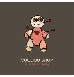 Voodoo doll logo vector