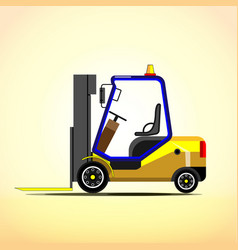 warehouse yellow forklift vector image