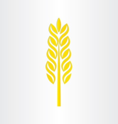 Wheat grain stylized icon design vector