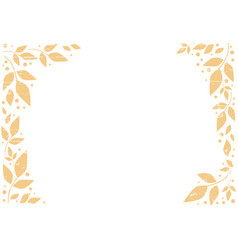 white background with frame of orange leaves vector image