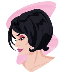 Woman Side Profile Portrait vector
