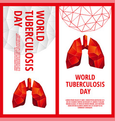 World tuberculosis day flyer template vector