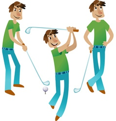 Happy Golfer set vector image