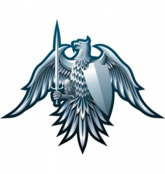 iron eagle vector image vector image