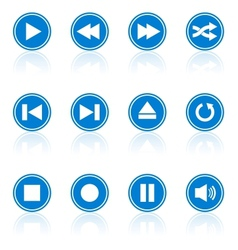 Media player buttons collection design elements vector image vector image