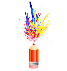 multicolored watercolor splashes from pensil vector image vector image