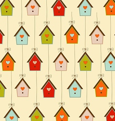 pattern with birdcages vector image