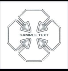 Arrows concept template vector image vector image