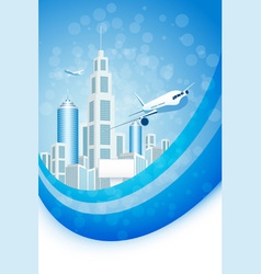 Blue Business Background vector image