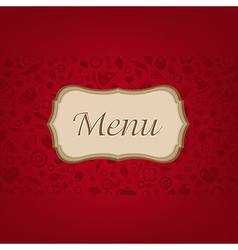Dark Red Background With Menu vector image vector image