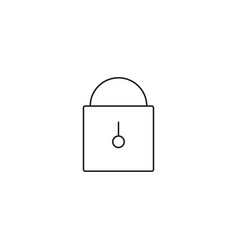 lock line icon on white background vector image