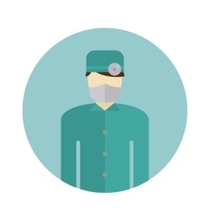 Medical doctor silhouette icon nurse or surgeon vector