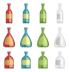ollection of alcohol bottles vector image vector image