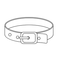 Pet collar icon of for web and vector image