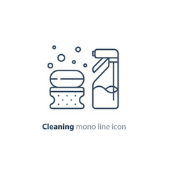 sanitation objects set cleaning equipment items vector image vector image