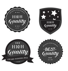set of high best quality round emblem vector image