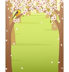 Spring forest vector image