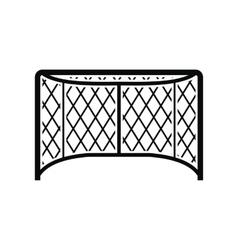 Hockey gates black simple icon vector image vector image