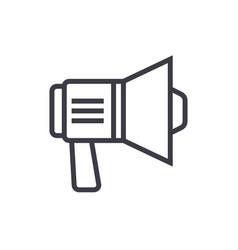 loudspeaker sign line icon sign vector image