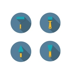 Set of icons of tool vector image vector image