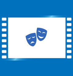 theater masks art vector image