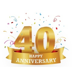 Anniversary Celebration with confetti vector image