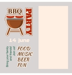 BBQ Party Invitation with copy space vector image vector image