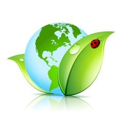 Green Earth Icon vector image
