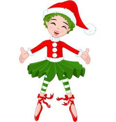 little christmas ballerina vector image vector image
