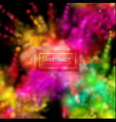 paint powder smoky explosion vector image vector image