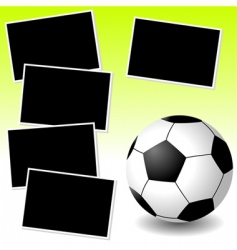 soccer photo adventure vector image vector image
