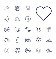 22 happy icons vector