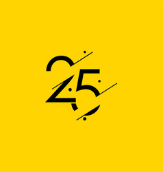 25 years anniversary celebration elegant number vector