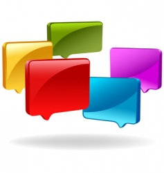 3d speech bubbles vector image