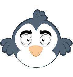 A funny cartoon bird vector