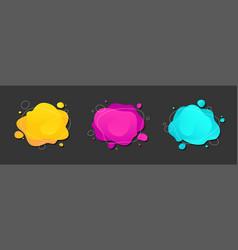 abstract liquid blot stain splatter set vector image